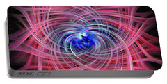 Portable Battery Charger featuring the photograph Colorful Twirling Vortex by Sue Melvin