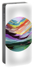 Colorful Uprising 5 Circle- Art By Linda Woods Portable Battery Charger