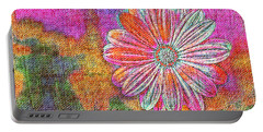 Colorful Watercolor Flower Portable Battery Charger