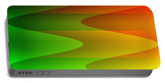 Portable Battery Charger featuring the digital art Colorful Waves by Kathleen Sartoris