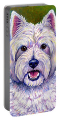 Colorful West Highland White Terrier Dog Portable Battery Charger