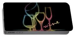 Colorful Wineglasses Portable Battery Charger