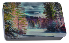 Portable Battery Charger featuring the photograph Colorful Winter Wonderland by David Patterson