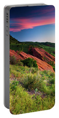 Portable Battery Charger featuring the photograph Colors Of A Colorado Spring Sunrise by John De Bord