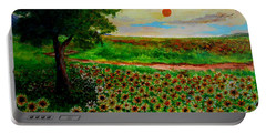 Sunflowers In Sunset Portable Battery Charger