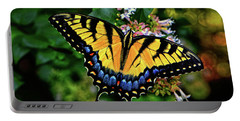 Portable Battery Charger featuring the photograph Colors Of Nature - Swallowtail Butterfly 003 by George Bostian