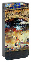Colors Of Paris In The Summer Portable Battery Charger