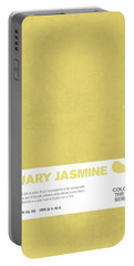 Colors Of The Year Series 01 Graphic Design January Jasmine  Portable Battery Charger