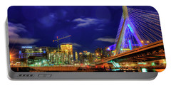 Portable Battery Charger featuring the photograph Colors Of The Zakim Bridge - Boston, Ma by Joann Vitali