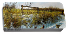 Colors Of Winter - Pheasants Portable Battery Charger