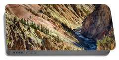 Colors Of Yellowstone Canyon Portable Battery Charger by Shirley Mitchell