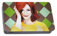 Portable Battery Charger featuring the painting Colour Inspired Beauty by Malinda Prudhomme