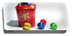 Coloured Baubles In A Pot Portable Battery Charger