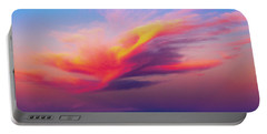 Coloured Feather Clouds Portable Battery Charger