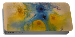 Portable Battery Charger featuring the drawing Colourful by AJ Brown