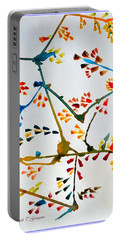 Colourful Blossoms Portable Battery Charger by Sonali Gangane