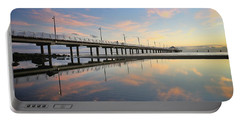 Colourful Cloud Reflections At The Pier Portable Battery Charger