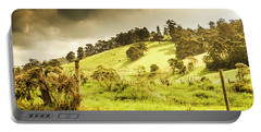 Colourful Fields And Farmyards Portable Battery Charger