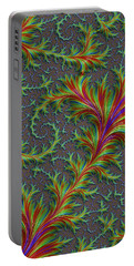 Colourful Fronds Portable Battery Charger by Rajiv Chopra