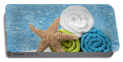 Colourful Towels Portable Battery Charger