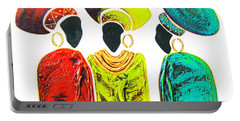 Colourful Trio - Original Artwork Portable Battery Charger
