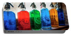Colourful Vintage Bottles Portable Battery Charger by Lana Enderle
