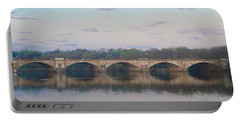 Portable Battery Charger featuring the photograph Columbia Railroad Bridge - Philadelphia by Bill Cannon