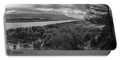 Columbia River Gorge Black And White  Portable Battery Charger