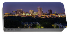 Columbia Skyline At Twilight Portable Battery Charger