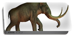 Columbian Mammoth On White Portable Battery Charger
