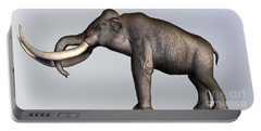 Columbian Mammoth Side Profile Portable Battery Charger