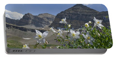 Columbines And Mountains, Utah Portable Battery Charger