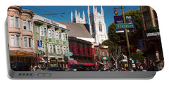 Columbus And Stockton In North Beach Portable Battery Charger