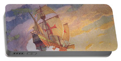 Columbus Crossing The Atlantic Portable Battery Charger