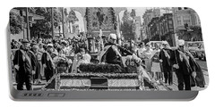 Portable Battery Charger featuring the photograph Columbus Day Parade San Francisco by Frank DiMarco