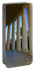 Columns At Jefferson Portable Battery Charger by Megan Cohen