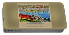 Come, Sit With Me My Dear Friend Portable Battery Charger by Rhonda McDougall