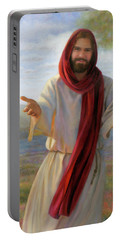 Portable Battery Charger featuring the painting Come Unto Me by Nancy Lee Moran