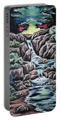Portable Battery Charger featuring the painting Come Walk With Me 2 by Cheryl Pettigrew