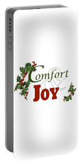 Comfort And Joy White Background Portable Battery Charger
