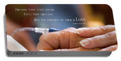 Portable Battery Charger featuring the photograph Comforting Hand Of Love by Steven Frame
