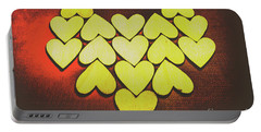 Comic Art Hearts Portable Battery Charger
