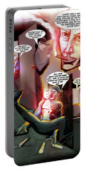 Portable Battery Charger featuring the digital art Comic Page Edit by John Jr Gholson