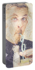 Portable Battery Charger featuring the digital art Comic Soda Poster by Jorgo Photography - Wall Art Gallery