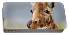 Comical Giraffe With His Tongue Out.  Portable Battery Charger