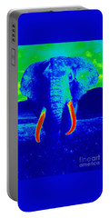 Heat Map Elephant Coming At You In About Ten Seconds Portable Battery Charger