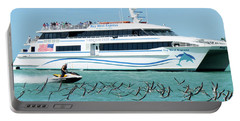 Portable Battery Charger featuring the photograph Coming Into Port, Key West, Florida  -80237 by John Bald