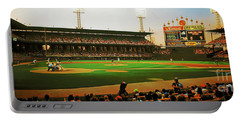 Comiskey Park  Portable Battery Charger by Tom Jelen