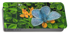 Common Blue On Bird's-foot Trefoil Portable Battery Charger