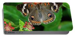 Common Buckeye Butterfly Portable Battery Charger by Betty LaRue